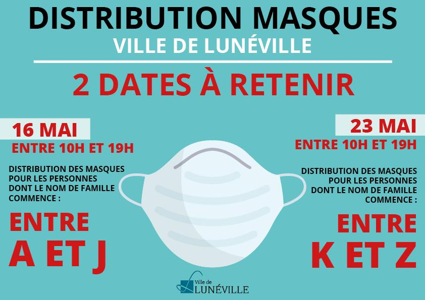 Distribution des masques en tissu